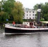 100 year old steam engine boat on Potsdam's Havel lakes.